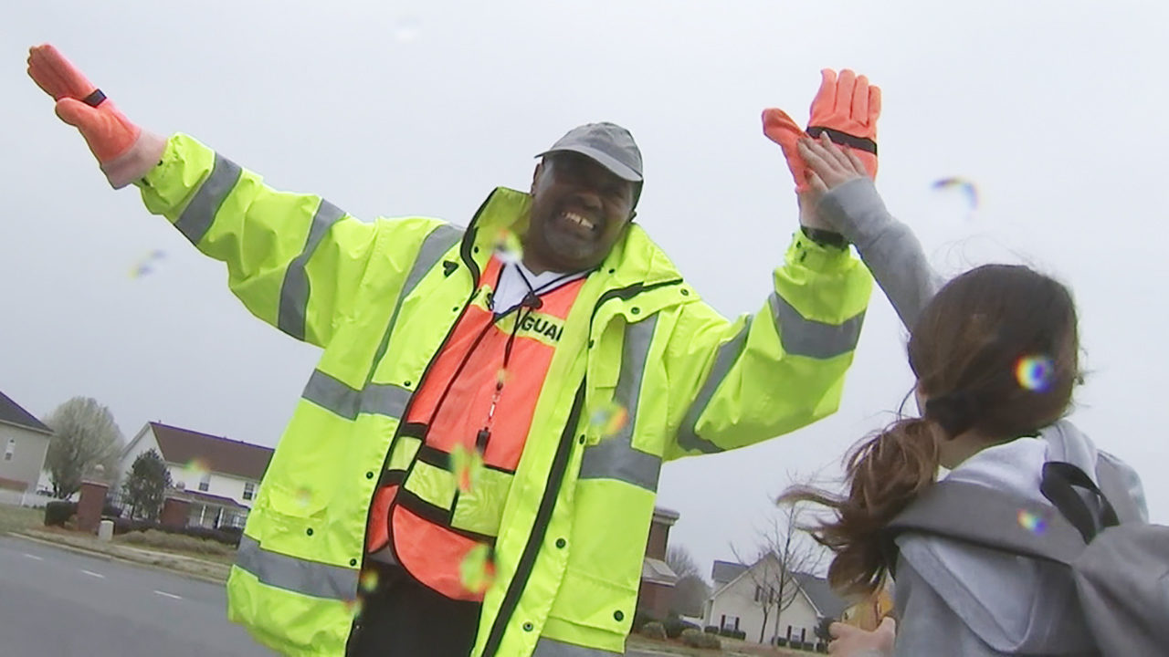 SUN VALLEY MIDDLE CROSSING GUARD: Veteran crossing guard