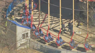 WORKER HURT AT CAROWINDS: Worker seriously hurt 'working above
