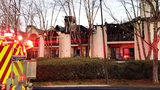 8 families displaced after large condo fire near lake Norman