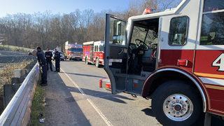 PHOTOS: Armored vehicle crashes into Long Creek