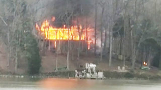 Lake Wylie waterfront home destroyed in massive fire