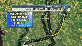 Stretch of I-85 south in Cabarrus County to shut down next week for roadwork