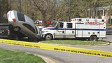WATCH: Man crashes stolen MEDIC truck into multiple parked vehicles, police say