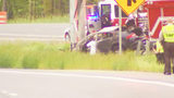 Troopers: Driver killed after car runs off road, catches fire near Monroe Expressway