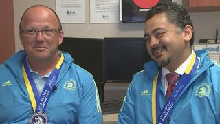 Charlotte cancer patient, doctor finish Boston Marathon together