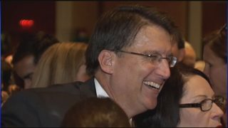 Man, apparently upset, damages former Gov. Pat McCrory