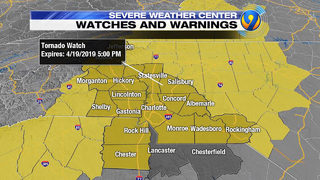 TRACKING: Tornado Watches issued as severe weather approaches