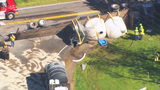 Tractor-trailer crash spills 3,700 gallons of liquid nitrogen in Union County