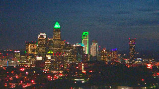 #CharlotteStrong: City lights up skyline in support of UNCC community