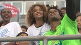"""""""Kicking it with Cam!"""" event draws in community, celebrities, athletes"""