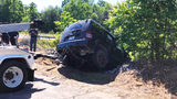 Couple says driver left them trapped for hours inside crashed Jeep