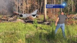 Marine Corps Harrier jet crashes in North Carolina