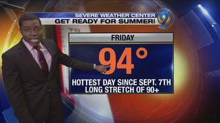 Thursday afternoon forecast update with meteorologist Tony Sadiku