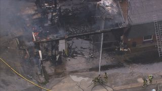 Firefighter expected to recover after being injured battling massive building fire in Kannapolis