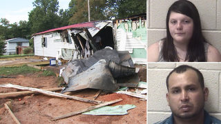 Teen, boyfriend charged after 2 found dead in mobile home arson