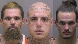 3 men charged in