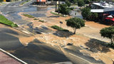 Water main break closes intersection, possibly for days