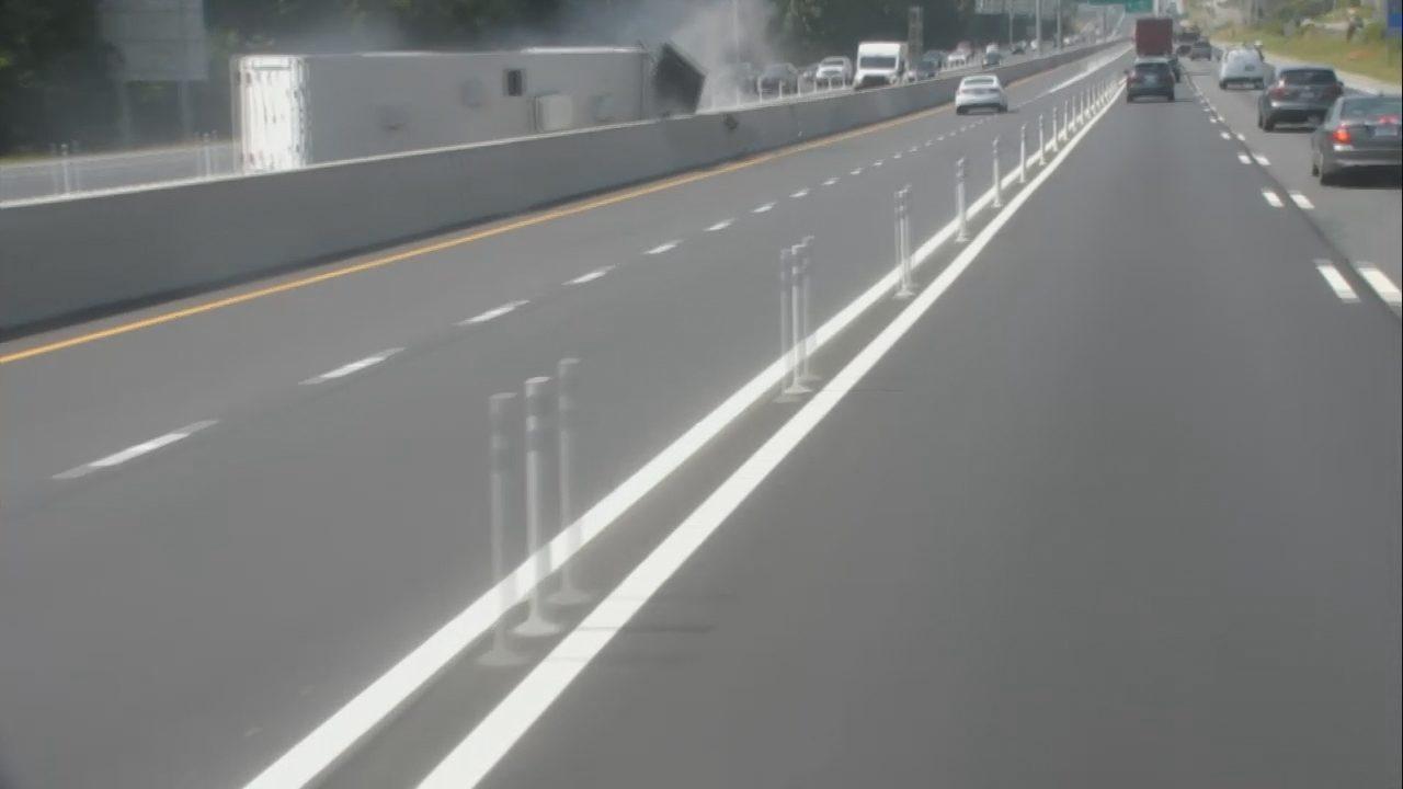 I-77 CAMPER FLIPS: WATCH: Camper overturns on I-77 in