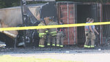 Investigators work to discover cause of fire that set off storage building full of fireworks