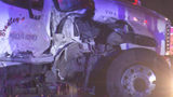 Amtrak train collides with tow truck hauling car off tracks in University City