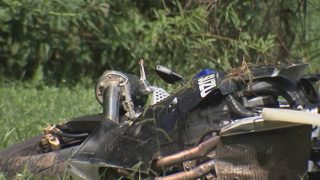 Man flown to hospital after crashing motorcycle during high-speed chase