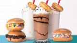Krispy Kreme scoop sandwiches and hand-spun milkshakes