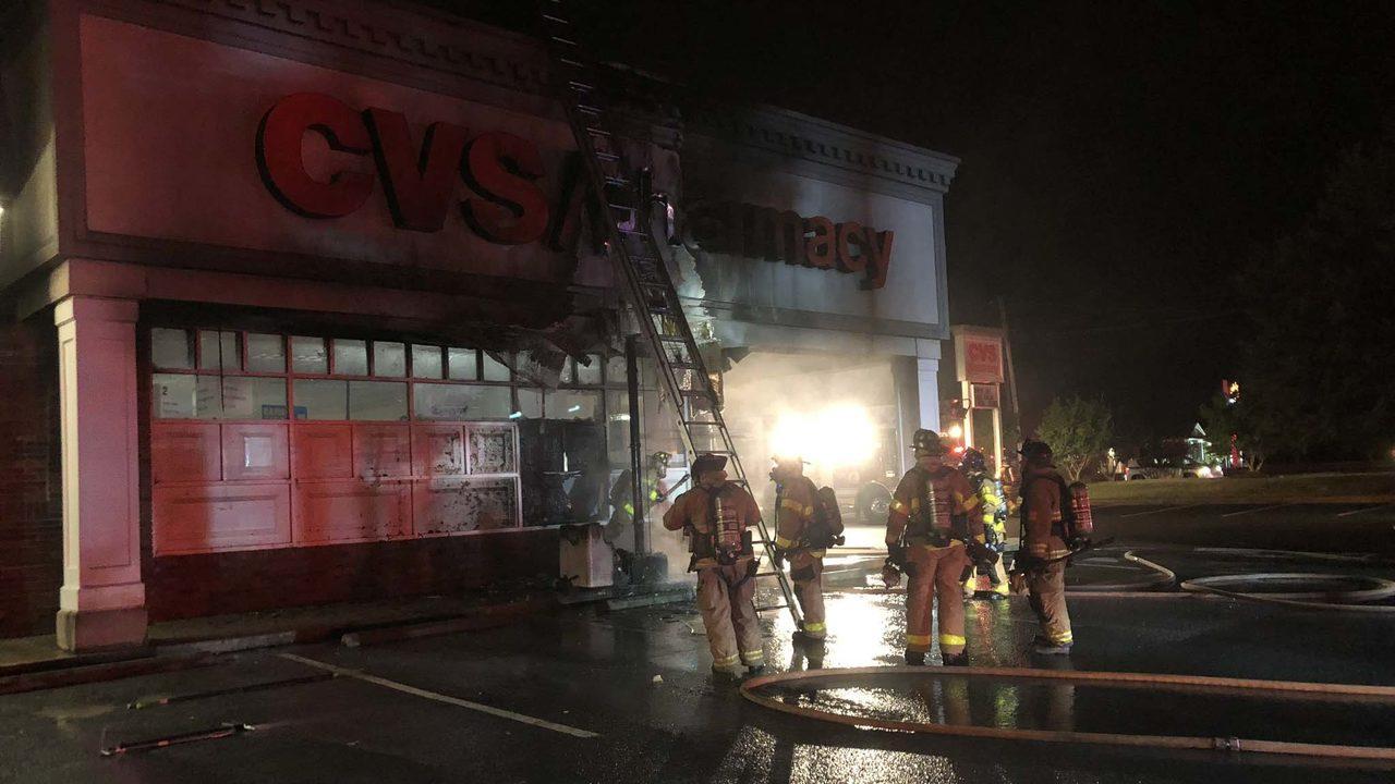 SALISBURY CVS FIRE: Crews quickly douse fire at Salisbury