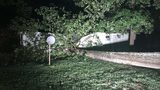 Tree crashes on top of mobile homes; 1 hospitalized with 'traumatic injuries'