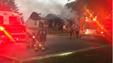 VIDEO: Person rescued from burning north Charlotte home