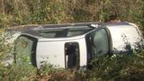 High-speed chase ends with car flipping off Burke County road