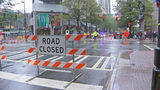 Streetcar expansion project closes busy intersection in heart of uptown