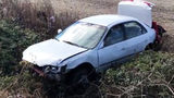 High-speed chase ends with car flipping near elementary school in Newton